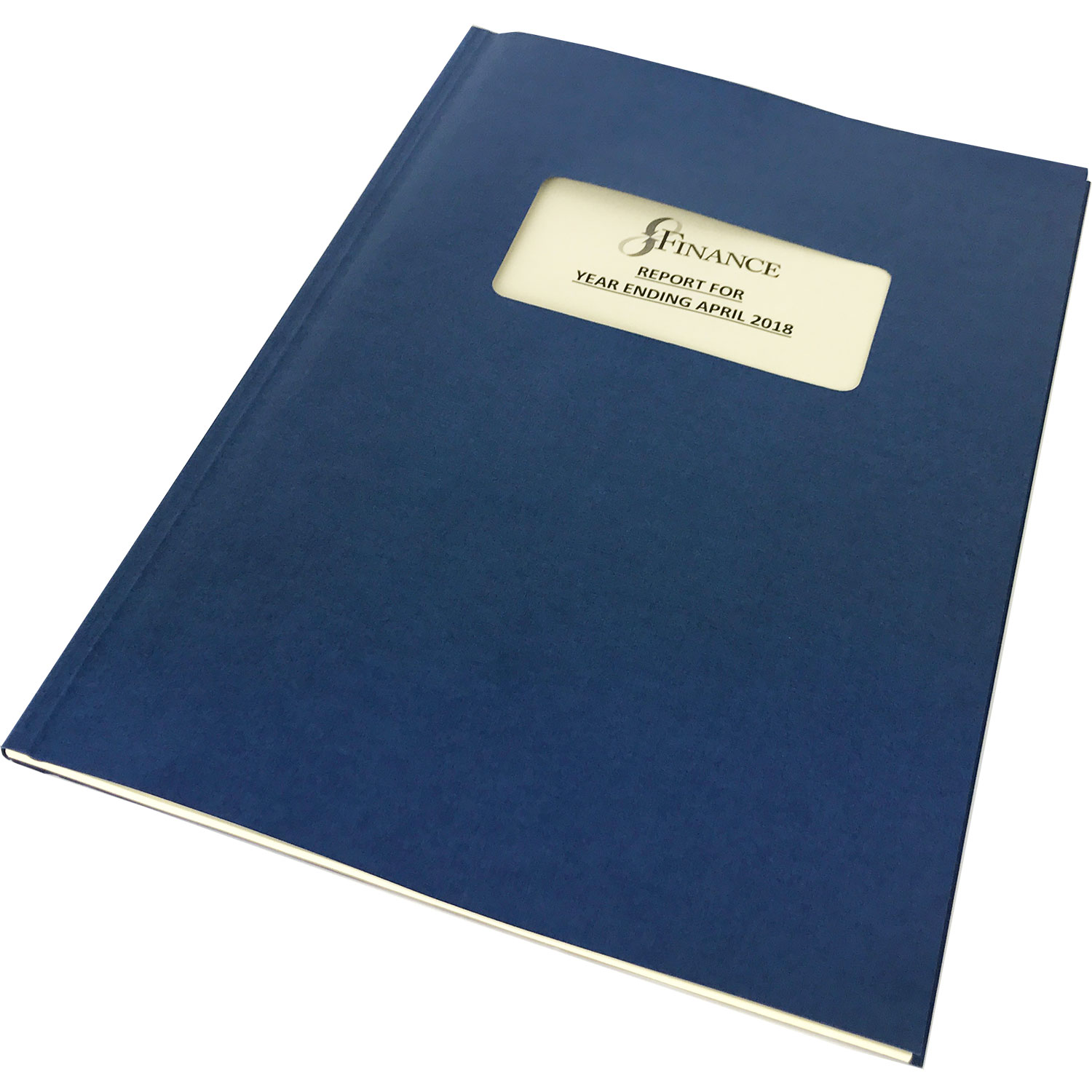 Channelbind A4 Soft-Window Cut-Out Binding Covers - Blue (50)